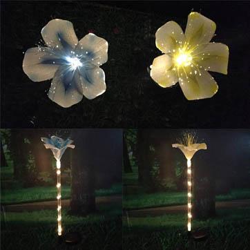 fiber optik çiçek dekorasyon ışığı