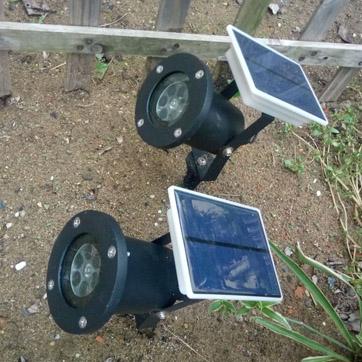 Güneş yılbaşı projektör ışığı