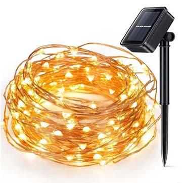 güneş enerjisi bakır tel dize ışık